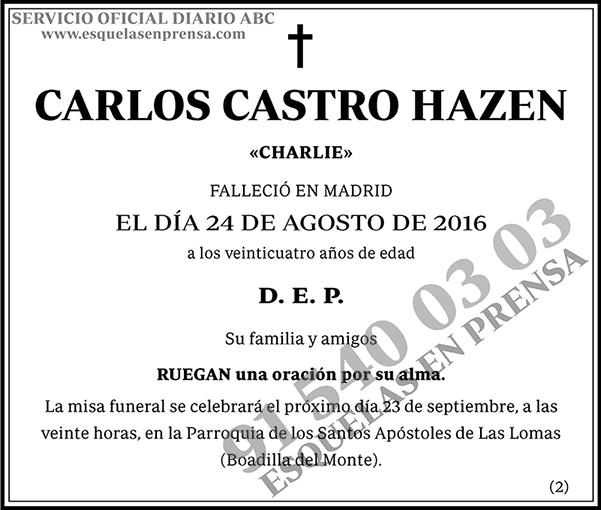 Carlos Castro Hazen